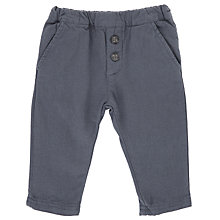 Buy Wheat Baby Oxford Twill Trousers, Blue Online at johnlewis.com