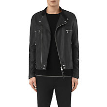 Buy AllSaints Kline Leather Biker Jacket, Black Online at johnlewis.com