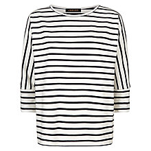 Buy Jaeger Batwing Breton Top, Ivory/Navy Online at johnlewis.com