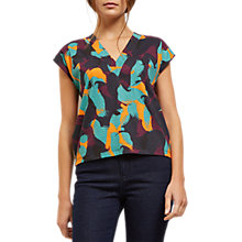 Buy Jaeger Printed Boxy T-Shirt, Multi Online at johnlewis.com