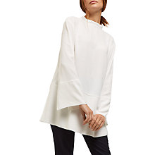 Buy Jaeger Tie Neck Detail Tunic, Ivory Online at johnlewis.com