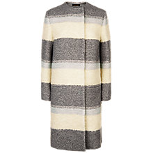 Buy Jaeger Multi-Textured Coat, Charcoal Online at johnlewis.com