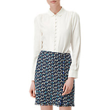 Buy L.K. Bennett Sia Longline Silk Shirt, Cream Online at johnlewis.com