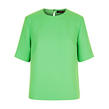 Buy Jaeger Crepe Boxy Top, Green Online at johnlewis.com