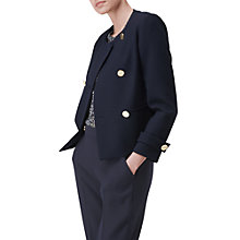 Buy L.K. Bennett Bay Collarless Jacket, Navy Online at johnlewis.com