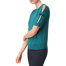 Buy L.K. Bennett Jen Bow Detail Jumper, Green Online at johnlewis.com