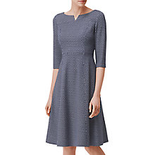 Buy L.K. Bennett Harri Ponte Roma Fit Dress, Multi Online at johnlewis.com