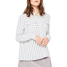 Buy Miss Selfridge Petite Bow Back Stripe Shirt, Multi Online at johnlewis.com
