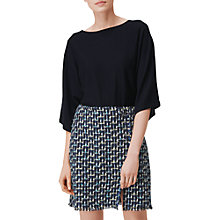 Buy L.K. Bennett Anna Kimono Sleeve Merino Wool Jumper, Navy Online at johnlewis.com