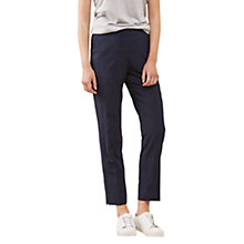 Buy Jigsaw Plaid Seersucker Portofino Trousers, Blue Smoke Online at johnlewis.com
