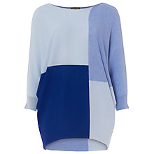 Buy Phase Eight Becca Colour Block Batwing Jumper, Cobalt Online at johnlewis.com