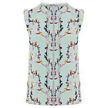 Buy Oasis Bird Split Shell Top, Multi/Blue Online at johnlewis.com