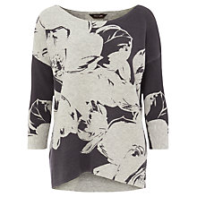 Buy Phase Eight Piera Print Knitted Jumper, Grey Online at johnlewis.com