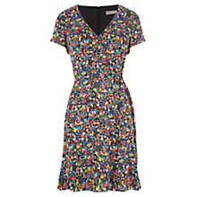 Buy Oasis Ditsy Wrap Skater Dress, Multi Online at johnlewis.com