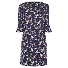 Buy Oasis Lotus Bird Flippy Sleeve Skater Dress, Multi/Blue Online at johnlewis.com