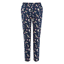 Buy Oasis Hummingbird Print Trousers, Multi Online at johnlewis.com