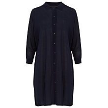 Buy Phase Eight Geovana Knitted Shirt Tunic, Navy Online at johnlewis.com