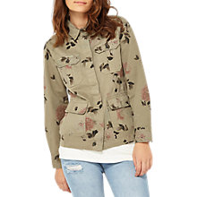 Buy Miss Selfridge Floral Print Shacket, Multi Online at johnlewis.com
