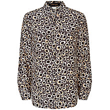 Buy Jaeger Silk Spot Animal Print Blouse, Multi/Grey Online at johnlewis.com