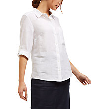 Buy Jaeger Linen Roll Sleeve Shirt Online at johnlewis.com