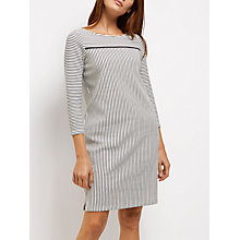 Buy Jaeger Jersey Ottoman Stripe Dress, Navy/Ivory Online at johnlewis.com