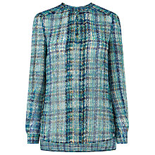 Buy L.K. Bennett Aurelia Soft Silk Printed Blouse, Multi Online at johnlewis.com