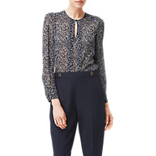Buy L.K. Bennett Adriene Printed Silk Blouse, Multi Online at johnlewis.com