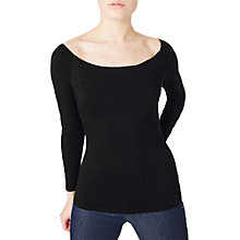 Buy Precis Petite Bardot Jersey Top, Black Online at johnlewis.com