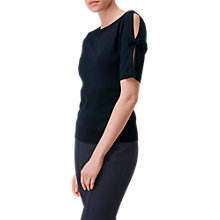 Buy L.K. Bennett Jen Bow Detail Jumper, Navy Online at johnlewis.com