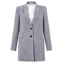 Buy Jigsaw Linen Blend Twill Coat Online at johnlewis.com