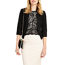 Buy Phase Eight Hannah Lace Jacket, Black Online at johnlewis.com