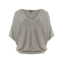 Buy Phase Eight Agatha Double Layer Knitted Jumper, Grey Marl Online at johnlewis.com