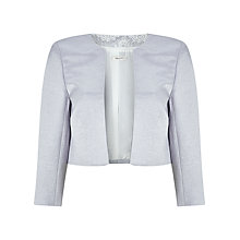 Buy Precis Petite Della Shimmer Bolero, Grey Online at johnlewis.com