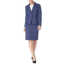Buy Precis Petite Eliza Peplum Tailored Jacket, Navy Online at johnlewis.com