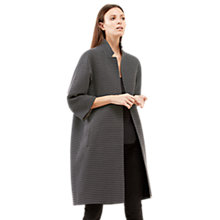 Buy Jigsaw Speckled Textured Coat, Navy Online at johnlewis.com