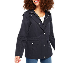 Buy Miss Selfridge Lightweight Parka Jacket, Navy Online at johnlewis.com