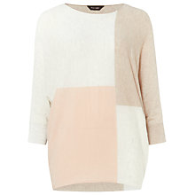 Buy Phase Eight Becca Colour Block Jumper, Soft Pink Online at johnlewis.com