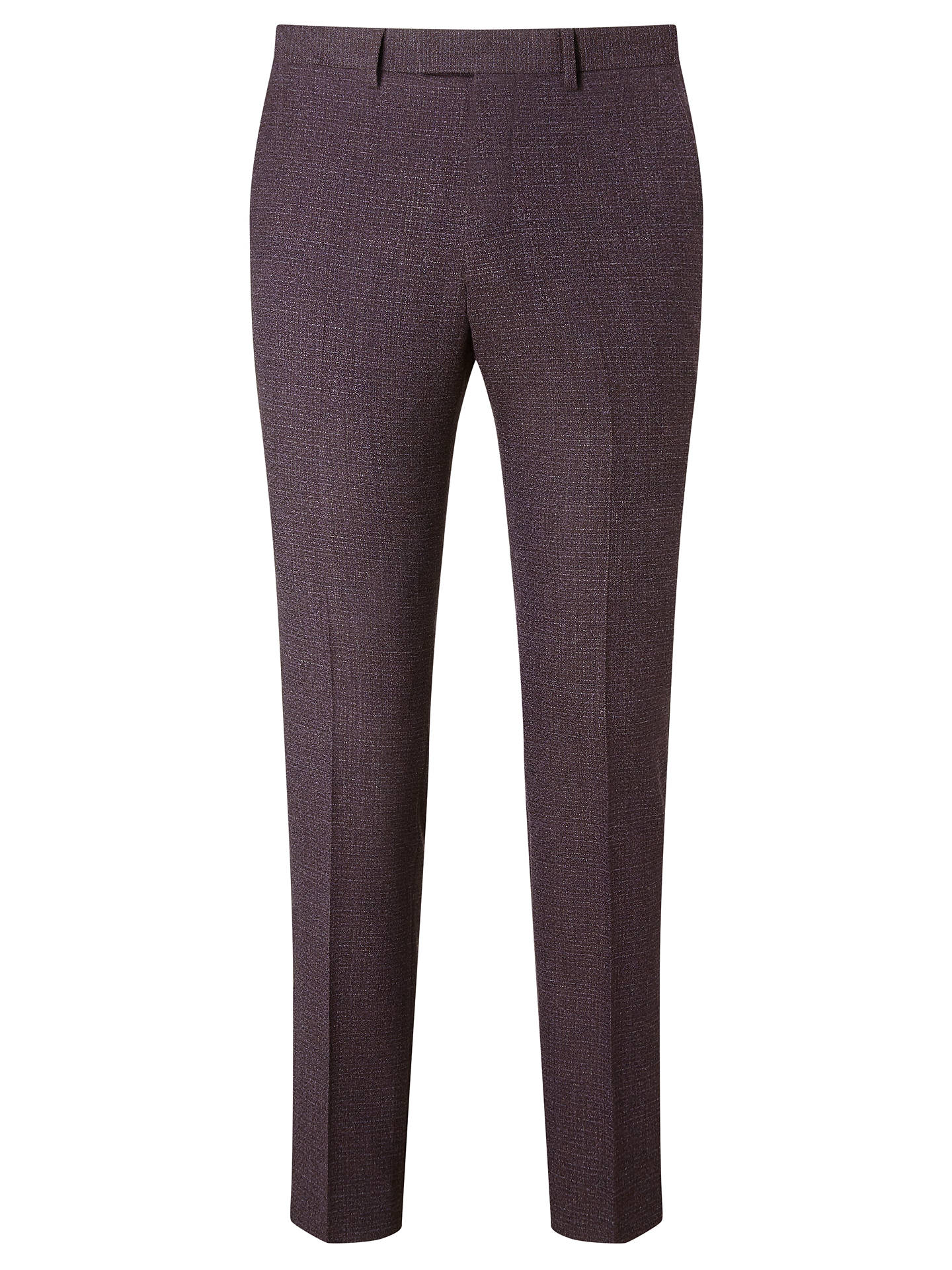 Kin Lexham Textured Slim Fit Suit Trousers Oxblood At