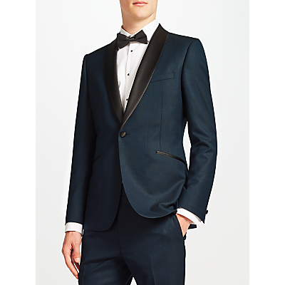 Kin by John Lewis Oden Jacquard Slim Dinner Suit Jacket, Teal