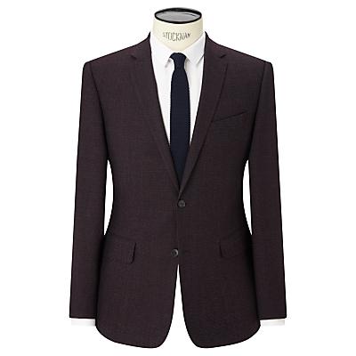 Kin by John Lewis Lexham Textured Slim Fit Suit Jacket, Oxblood
