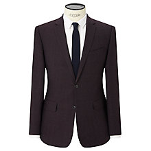 Buy Kin by John Lewis Lexham Textured Slim Fit Suit Jacket, Oxblood Online at johnlewis.com