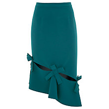 Buy Finery Buckrose Bows Skirt, Petrol Online at johnlewis.com