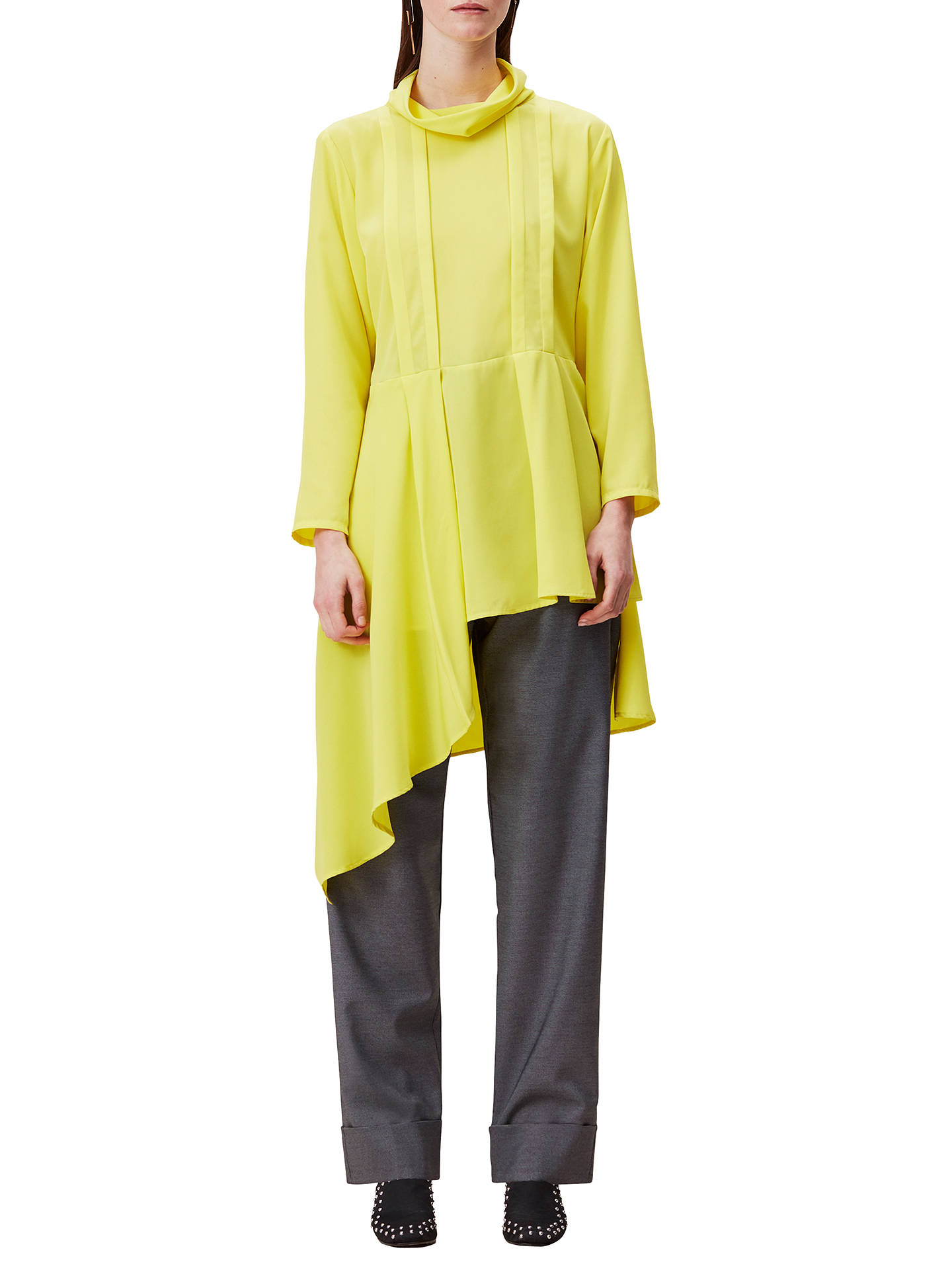 0f7b5d2cd66 Buy Finery Tasso Cowl Neck Tunic Dress, Yellow, 8 Online at johnlewis.com  ...