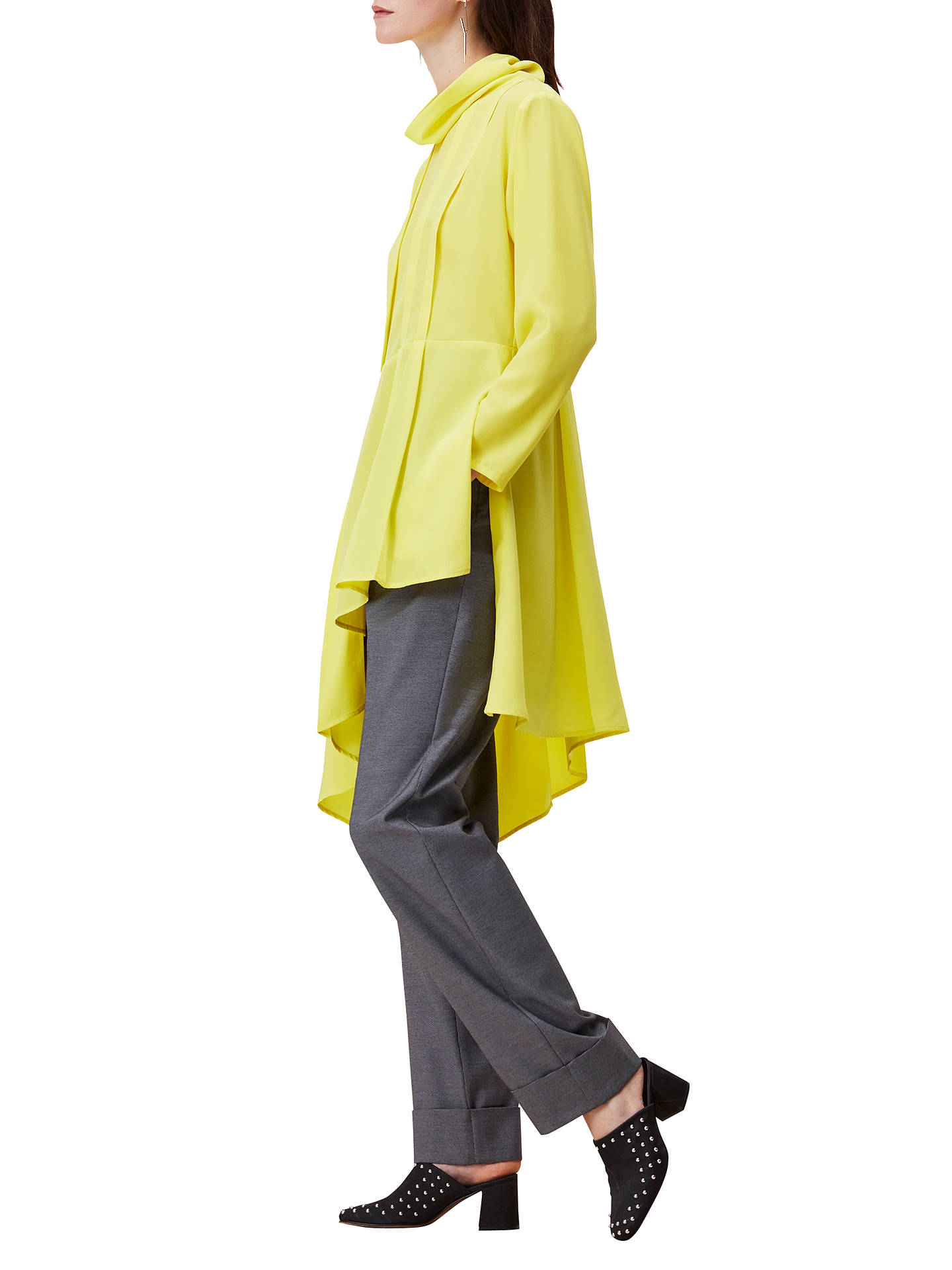eaeffbb9920 ... Buy Finery Tasso Cowl Neck Tunic Dress, Yellow, 8 Online at  johnlewis.com ...