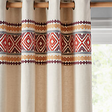 Buy John Lewis Lima Border Lined Eyelet Curtains Online at johnlewis.com