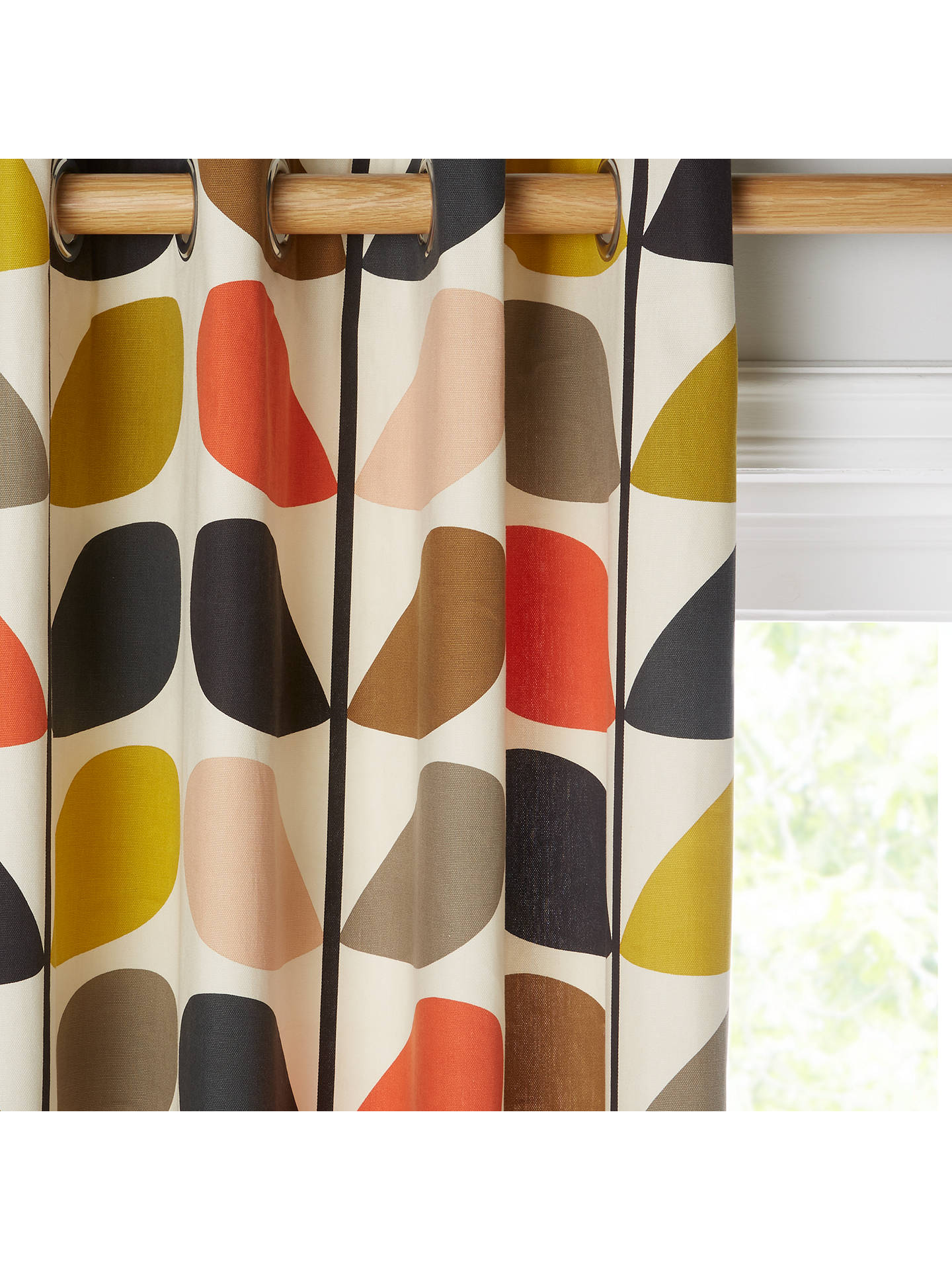 BuyOrla Kiely Multi Stem Pair Lined Eyelet Curtains W117 X Drop 137cm Online