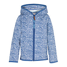 Buy Fat Face Girls' Cluster Print Zip Through Hoodie, Navy Online at johnlewis.com