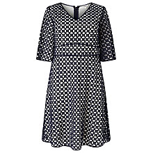 Buy Studio 8 Liza Broderie Anglais Dress, Navy/Multi Online at johnlewis.com