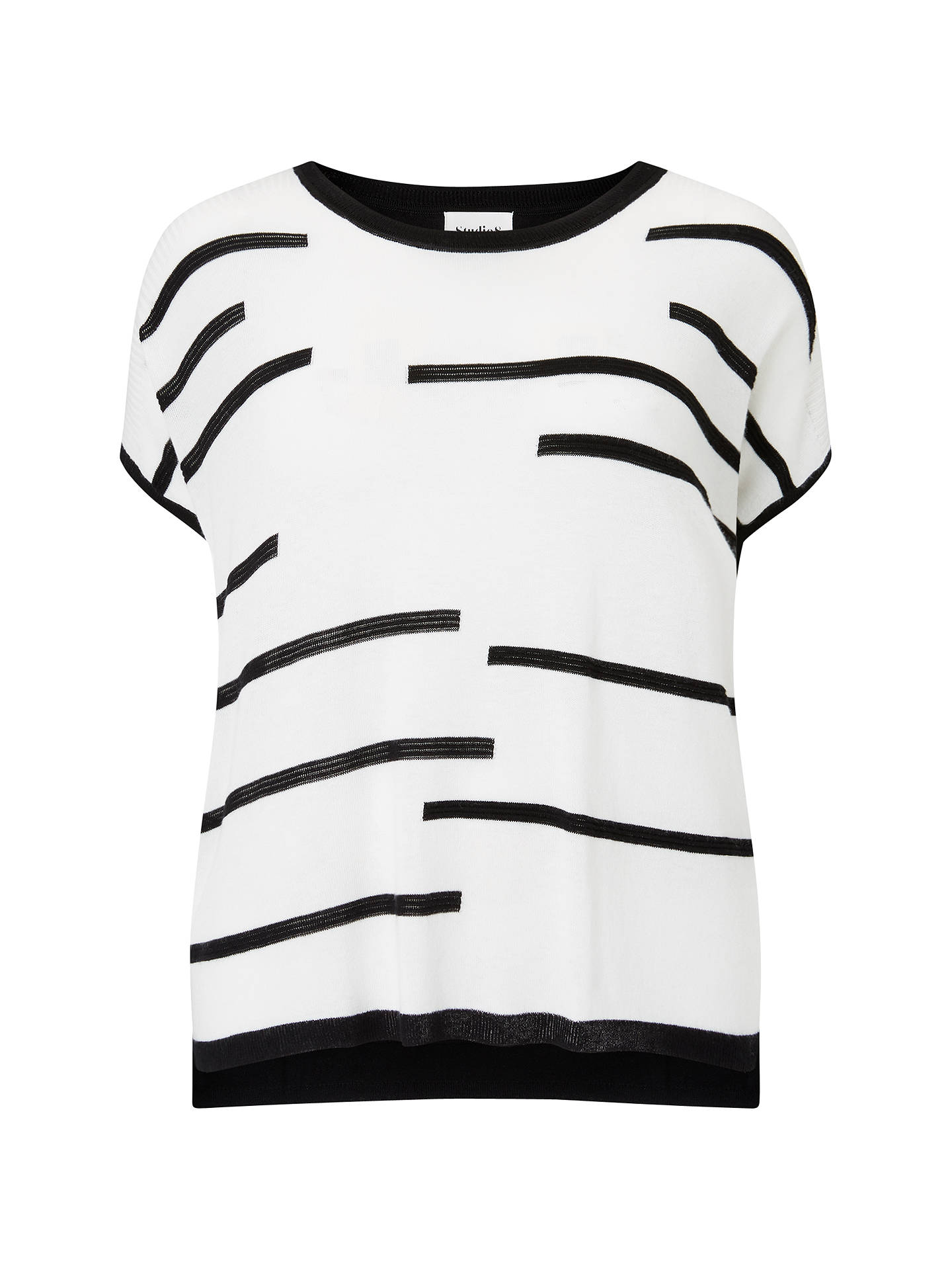 BuyStudio 8 Kelly Knit Top, Black/Ivory, 16 Online at johnlewis.com