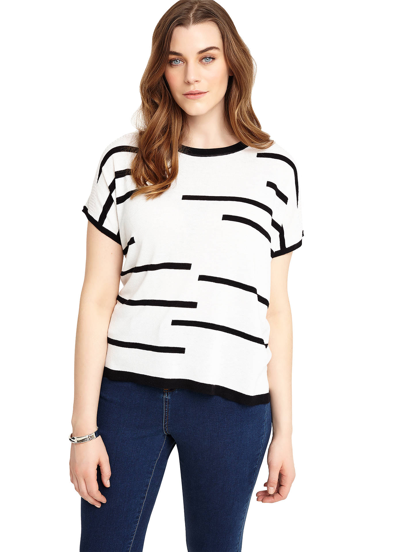 Buy Studio 8 Kelly Knit Top, Black/Ivory, 12 Online at johnlewis.com